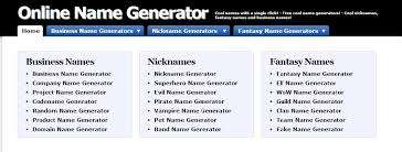 generate random and creative name with one click