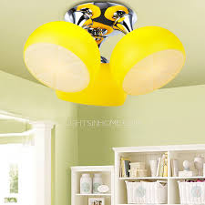 Childrens Ceiling Light 3 Light Childrens Ceiling Lights For Yellow Shade
