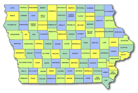 state of iowa map iowa cart licensing county state and regulations