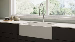 Top Mounted Kitchen Sinks by Kitchen Top Mount Farmhouse Sink Fireclay Sink Stainless