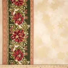 kaufman holiday flourish metallic 57 in wide double border
