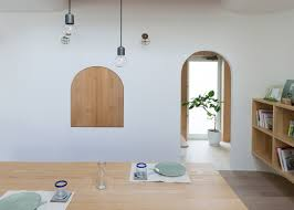 Japan Design by Compact Home In Japan Looks Enchanting With Arches And Curves Curbed