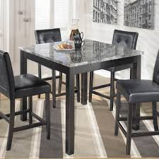 Square Counter Height Dining Table And Stools Set - Countertop dining room sets