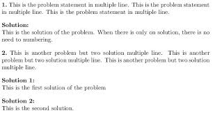 exercises problem solution template tex latex stack exchange
