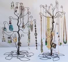 earring necklace jewelry display images Wire tree stand jewelry display holder set earring necklace jpg