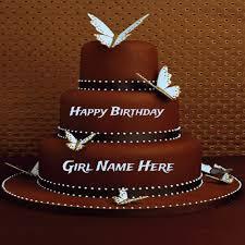 write name on heart shape birthday cake for lover