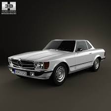 mercedes 3 door coupe mercedes sl class r107 coupe 1972 3d model hum3d