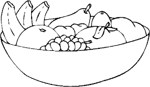 coloring pages fruit bowl coloring