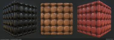 artstation substance designer chesterfield sofa leather