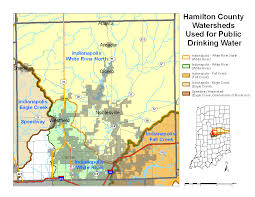 County Map Of Indiana Hamilton County Watershed Map