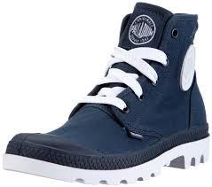 s palladium boots uk palladium blanc hi mens size 11 blue indigo white canvas casual