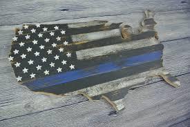 Flag Law 3d Thin Blue Line Flag Us Cutout Police Flag Law