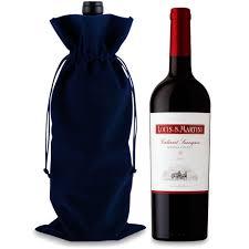 red martini bottle louis m martini sonoma county cabernet sauvignon 2013 in a velvet
