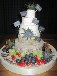 wedding cake made of cheese summer cheese cake tower lavender and lovage
