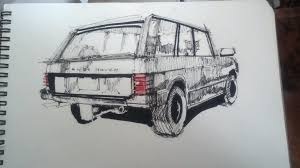 range rover drawing when you u0027re bored in class 15 min sketch range rover classic