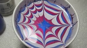 patriotic water marble accent nail art tutorial youtube