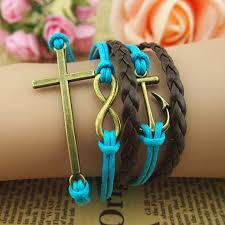 braid hand bracelet images Infinity bracelet cross bracelet anchor bracelet infinity love 37848