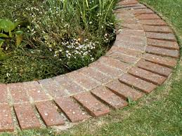 how to install a mowing strip of bricks how tos diy