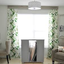 How To Make Your Own Kitchen Curtains by Simple No Sew Drapery Panels