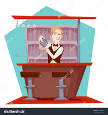 vector illustration barman cocktail party stock vector 279683342