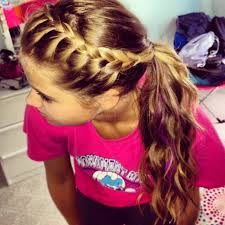 How To Make Hairstyles For Girls by French Braid Your Bangs And Pull Back Into Ponytail Easy To Do