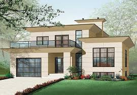 plan 21679dr modern house plan with 2nd floor terace