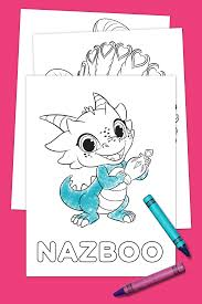 new friends of zahramay falls coloring pack nickelodeon parents