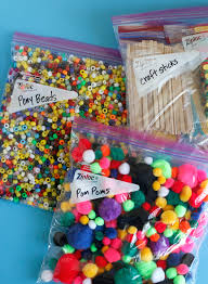 organizing craft supplies make and takes