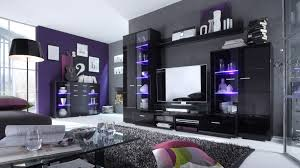 wohnwand hochglanz wohnzimmer schwarz hochglanz haus design ideen