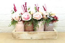 jar flowers gold blush and chaigne pint jar flower arrangement