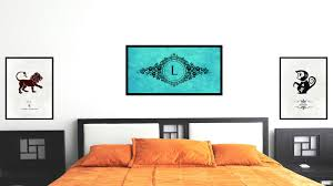 Letter L Home Decor by Alphabet Letter L Initial Typography Letter Font Wall Art Home