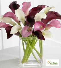 bouquet of lilies amethyst riches mini calla bouquet royal fleur florist