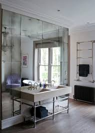To Da Loos Gorgeous Floor To Ceiling Mirrors Behind The Bathroom - Floor to ceiling bathroom vanity