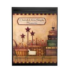 amazon com primitive country charm dishwasher magnet cover brown