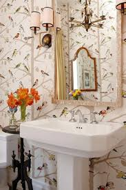bathroom with wallpaper ideas 37 inspirational ideas to design a guest toilet digsdigs