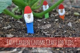 Garden Crafts Ideas Easiest Garden Gnome Craft Idea For