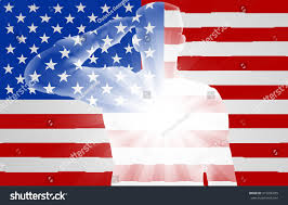The American Flag Soldier Saluting Front American Flag Design Stock Vector 415206355