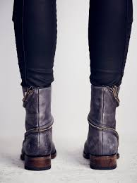 over the ankle boots for motorcycle free people essential zipper ankle boot in brown lyst