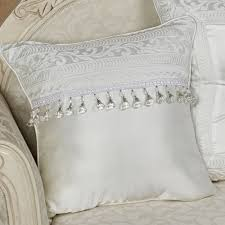 Bianco Solid White Decorative Pillows by J Queen New York