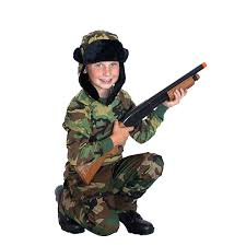 Halloween Army Costumes Kids Army