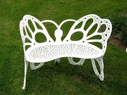 flower house fhbfb06w butterfly bench white amazon ca patio