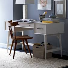 mid century desk white west elm uk