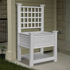 new england arbors va68227 kingsrow planter with trellis lowe u0027s