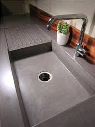 Concrete Kitchen Sink by Concrete Counter Top With Integral Drainboard Looks Like