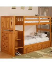 amazing deal on kaitlyn twin over twin bunk bed with stairs