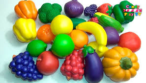 learn names of fruits and vegetables with toy kids learning
