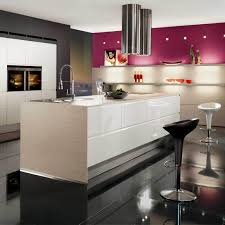 cool and contemporary black white and magenta finishes high