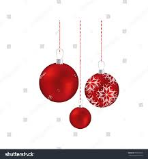 set red garlands christmas holding snowflakes stock vector