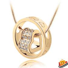 swarovski gold plated necklace images Swarovski elements crystal heart gold plated ring pendant jpg