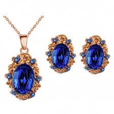 royal blue earrings vintage style sapphire royal blue antique gold stud earrings
